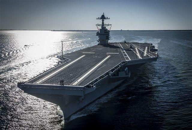استقرار ناو هواپیمابر آمریکا در خلیج فارس