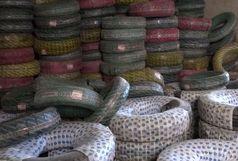 کشف حلقه های لاستیک احتکار شده در سراوان