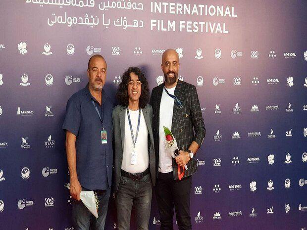 سعید آقاخانی و تورج اصلانی، مقابل دوربین عکاسان جشنواره فیلم دهوک