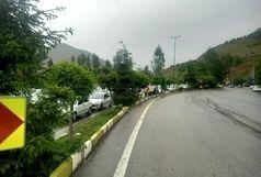 تردد در چالوس و هراز روان است/بارش پراکنده باران در مازندران و گلستان