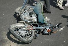 مرگ راکب و ترک نشین موتورسیکلت در برخورد با اتوبوس