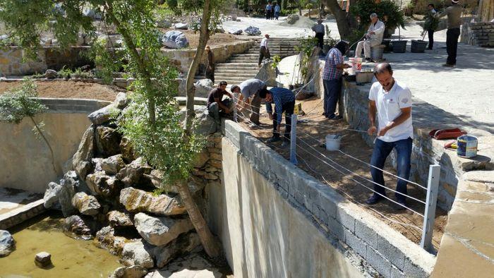 ورودی پارک امیریه سنندج ساماندهی شد