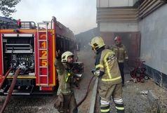 آتش سوزی در خیابان قزوین