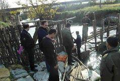 تخریب سد کلهام ( شیل ) در لنگرود