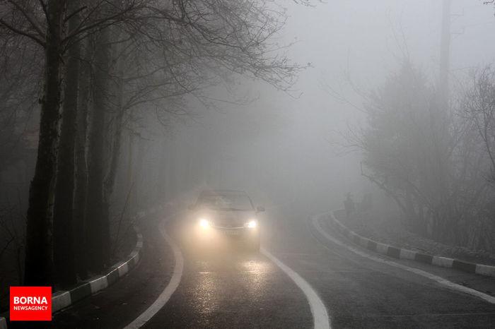 مه گرفتگی همراه با کاهش دید در محور کرج