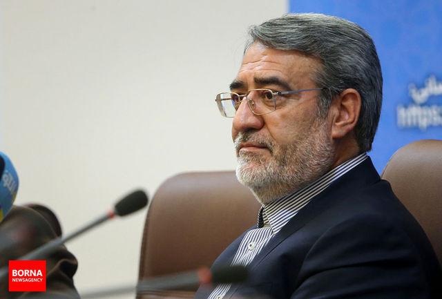وزیرکشور شهادت «نورخدا موسوی»  را تسلیت گفت