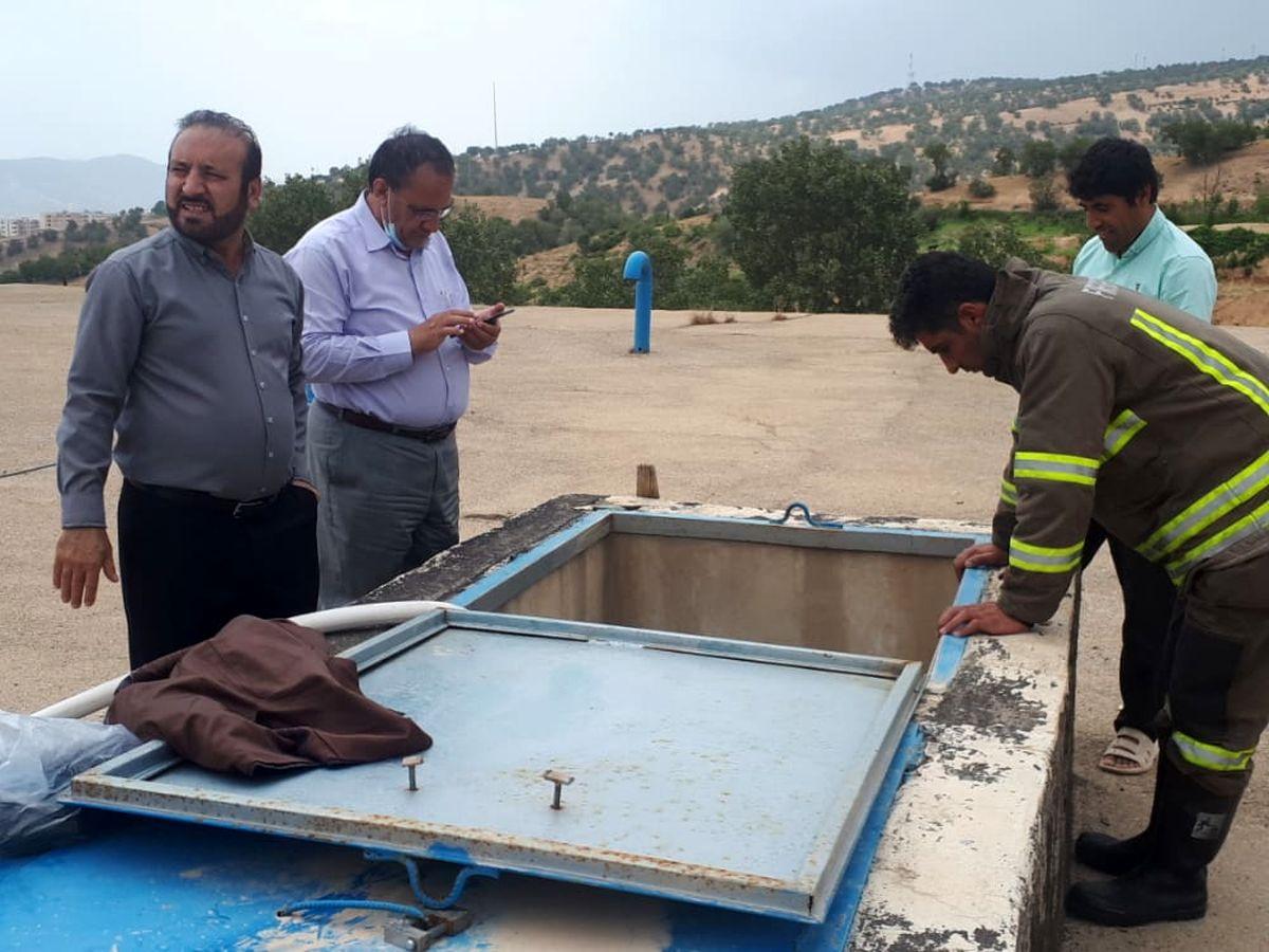 عملیات تعویض و بهسازی خط انتقال آب طسوج چرام در کمترین زمان