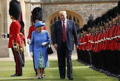 خرابکاری ترامپ در کاخ باکینگهام صدای ملکه را درآورد!