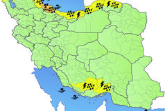 اخطاریه سطح نارنجی هواشناسی برای بارش و باد شدید و کاهش دما