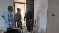 بازدید سردار شاهچراغی از روند احداث منازل زلزله زدگان در سی سخت
