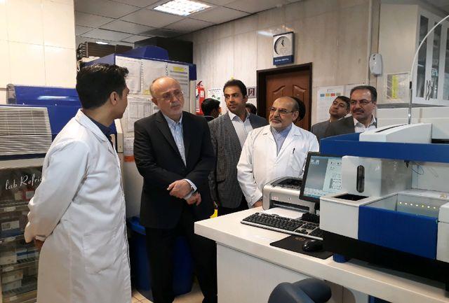 بازدید و عیادت استاندار البرز و فرماندار کرج از بیماران بیمارستان  های مریم و کوثر