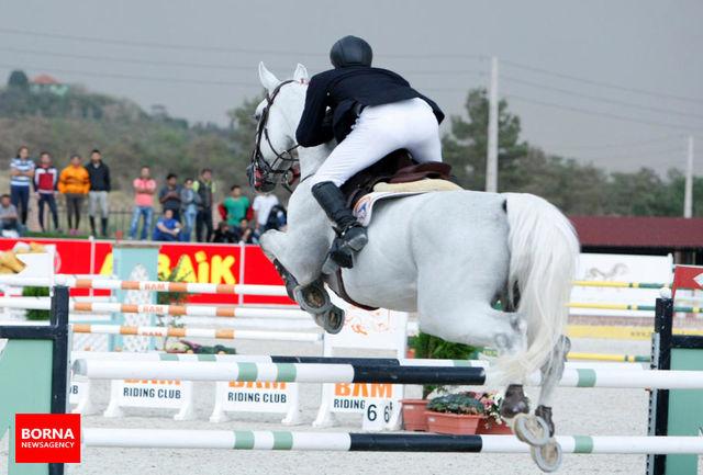 خوشدل، قهرمان رقابت های پرش با اسب باشگاه بام