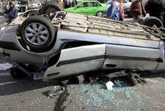 واژگونی پژو 405 حادثه ساز شد