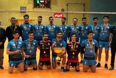 تیم والیبال جوانان شهرداری قزوین قهرمان لیگ یک شد