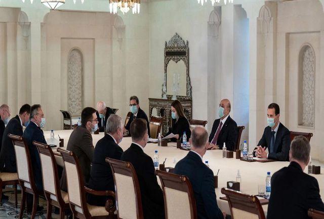 دیدار فرستاده پوتین با رییس جمهوری سوریه