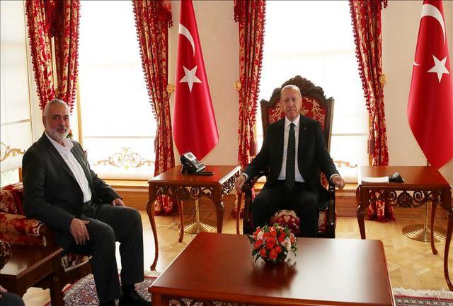 هنیه با رئیسجمهور ترکیه در استانبول دیدار کرد