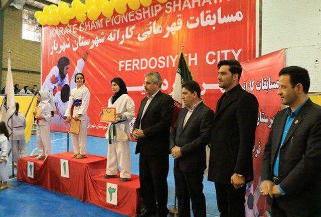مسابقات کاراته شهرستان شهریار به میزبانی شهر فردوسیه برگزار شد