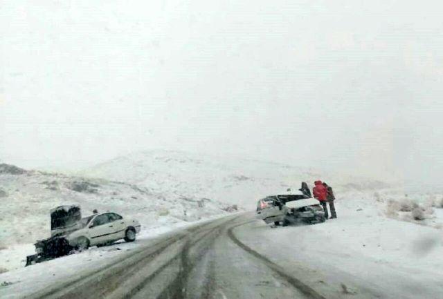 تصادفات جادهای همدان ۱۹ مصدوم برجا گذاشت