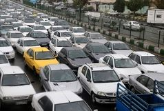 ترافیک سنگین صبحگاهی در معابر شهر تهران