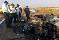 8 کشته و مصدوم در سانحه تصادف سه خودرو زایران اربعین در محور بستان