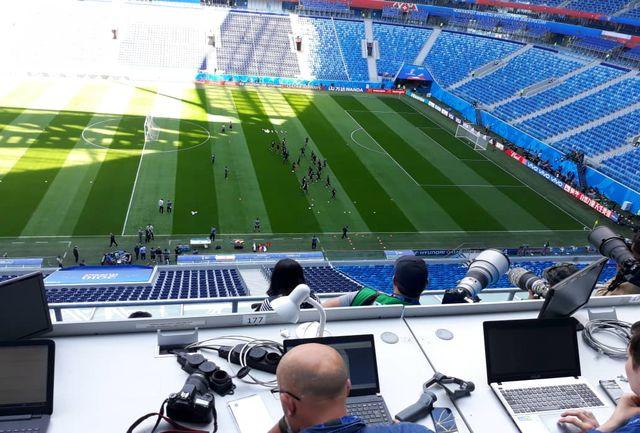 تمرین تیم ملی ایران در ورزشگاه سن پترزبورگ