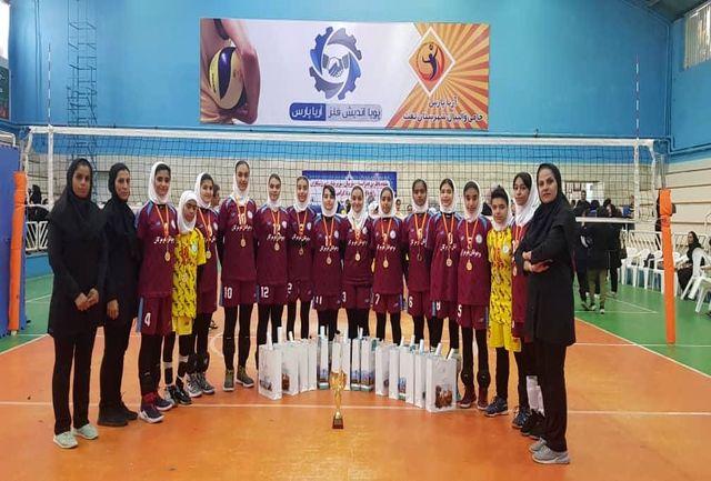 صعود تیم هرمزگان به لیگ دسته ۲ والیبال نوجوانان دختر کشور