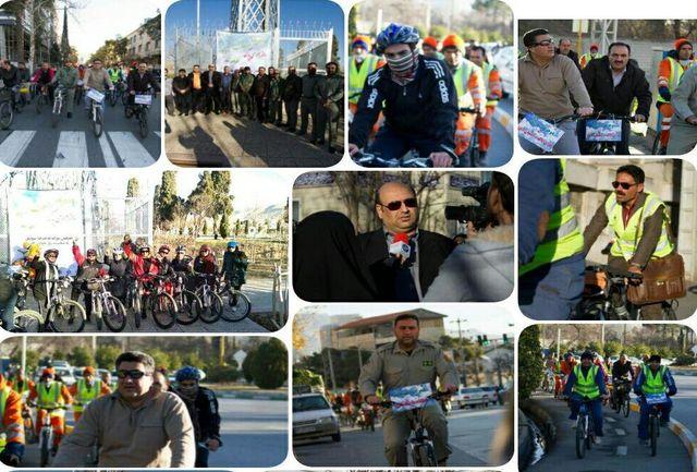دوچرخه سواری دوستداران محیط زیست در شیراز