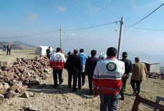 رانش زمین در روستای کرگسر هوراند / امداد رسانی نیروهای هلال احمر