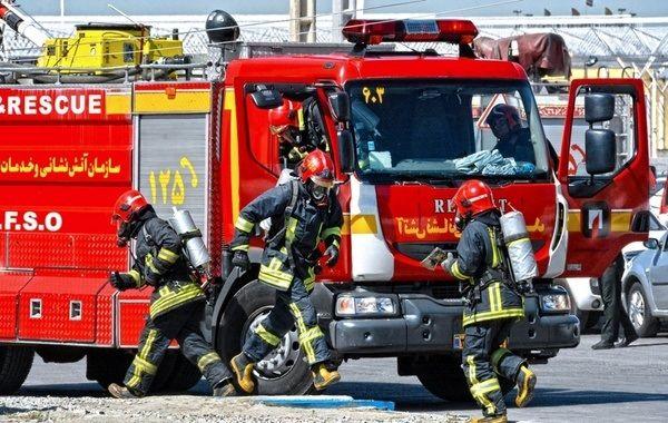 بعثت در آتشسوخت/انتقال ۴۰ بیمار