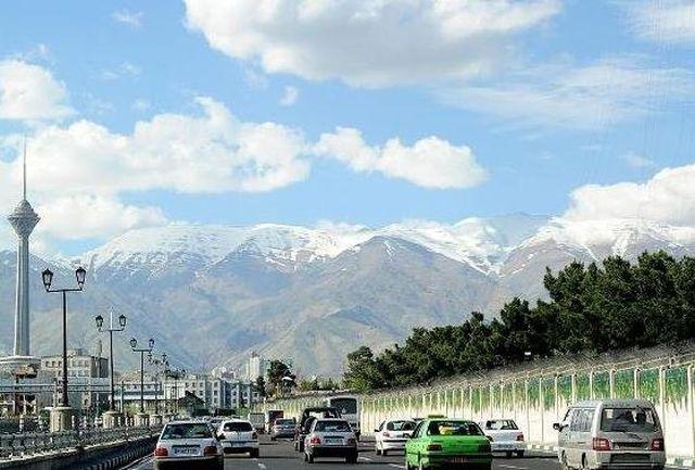3 روز آینده هوای استان تهران پایدار و صاف است