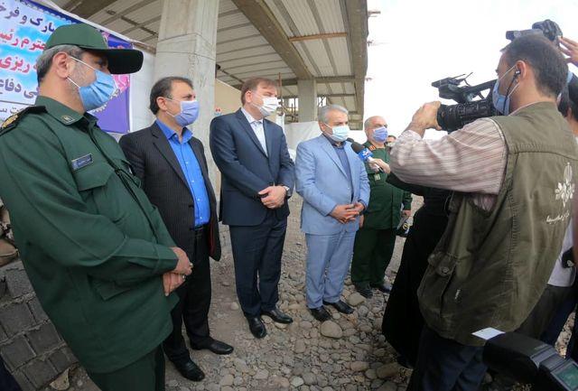 بازدید رییس سازمان برنامه و بودجه کشور و استاندار از مرکز فرهنگی دفاع مقدس گیلان