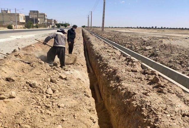 رفع مشکل افت فشار شهرک بهشت و احمدیه حسن آباد