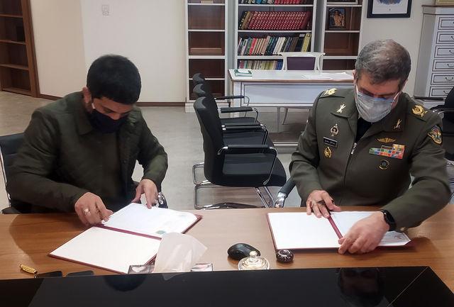 امضای تفاهمنامه همکاری فدراسیون کشتی و تربیت بدنی نیروهای مسلح