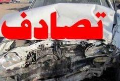 تصادف پراید با کامیون در محور سیمان سپاهان-پیربکران