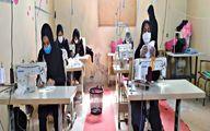 تولید روزانه 1500 ماسک در شرکت تعاونی خیاطی الزهرا (س) زابل