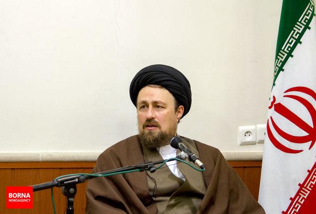 سید حسن خمینی از آیت الله موسوی اردبیلی عیادت کرد