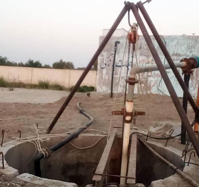 بازسازی یک حلقه چاه برای افزایش تولید آب 17 روستا و کارگاه صنعتی جاسک