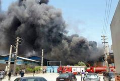 مهار آتش سوزی در انبار چسب رزین در باقرشهر/مصدومیت یک نفر درآتش سوزی