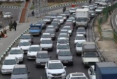 ترافیک صبحگاهی محورهای بزرگراهی در دومین روز کاری هفته
