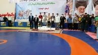 قهرمانی خوزستان در مسابقات کشتی فرنگی نونهالان کشور
