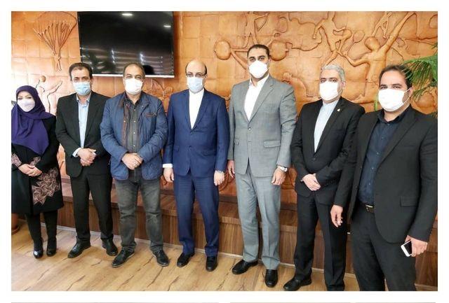 دیدار روسای فدراسیون موتورسواری و اتومبیلرانی با معاون وزیر ورزش و جوانان