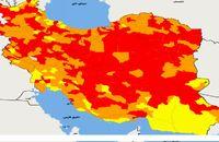 تغییرات مختصر نزولی بیماری کرونا در 9 استان / شروع پیک جدید بیماری کرونا در 5 استان