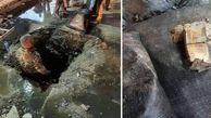 ٢٠٠ کیسه اسکناس از کانال آب ساختمان بانک مرکزى عراق خارج شد