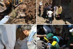 مرگ دو نفر براثر ریزش کانال خاکی در آبعلی