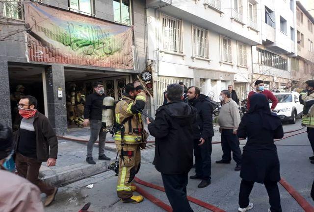 وقوع آتش سوزی گسترده در خیابان بخارست تهران+ عکس