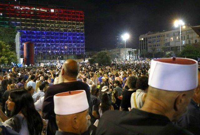 """سرزمینهای اشغالی صحنه تظاهرات علیه """"قانون کشور یهود"""" میشود"""