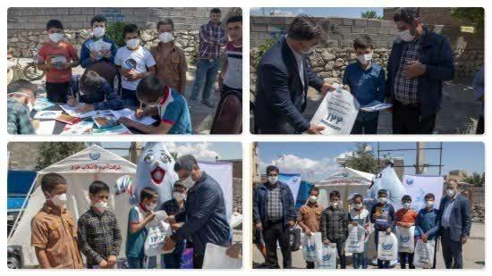 برگزاری مسابقه نقاشی در روستای وار توسط شرکت آب و فاضلاب خوی