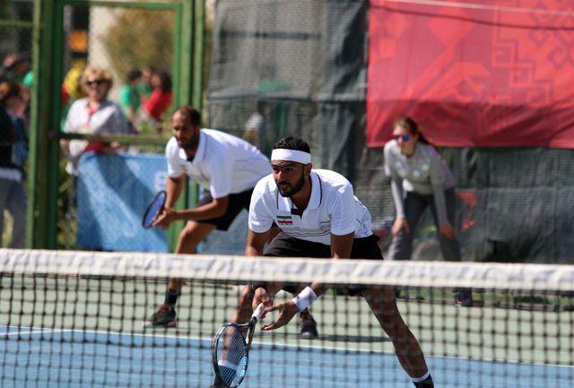 شکست تیم دوبل تنیس برابر پاکستان با اشتباه داوری