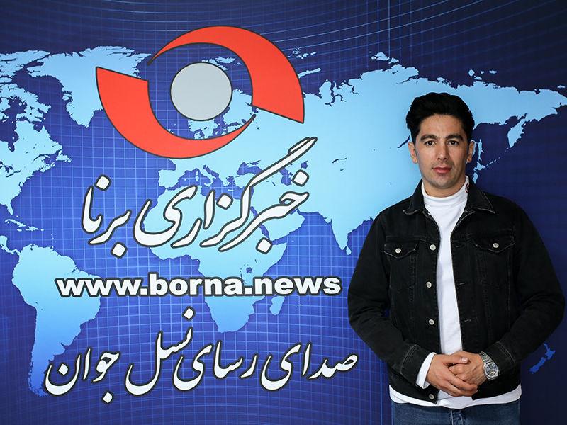 حضور ساسان اکبری در خبرگزاری برنا