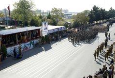 رژه نیروهای مسلح در قزوین برگزار شد